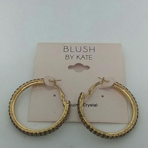 "Blush Jewelry - NWT ""Blush by Kate"" Gold-Tone Hoop Earrings"
